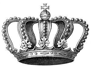 queen crown vintage