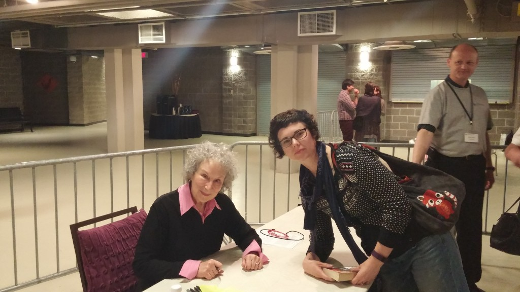 Right after getting my book signed by Margaret Atwood herself.