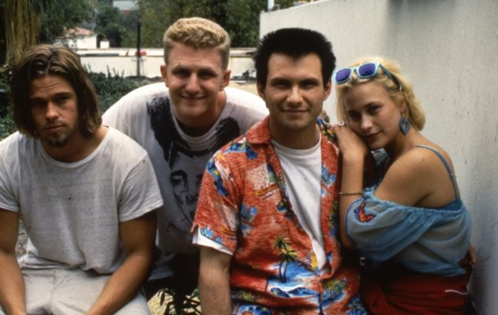 Brad Pitt, Michael Rapaport, Christian Slater and Patricia Arquette in True Romance.