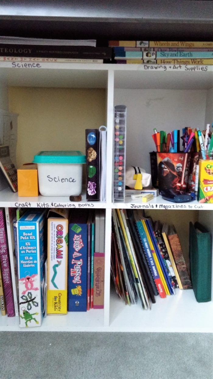 Decluttering and Labeling makes kids happy