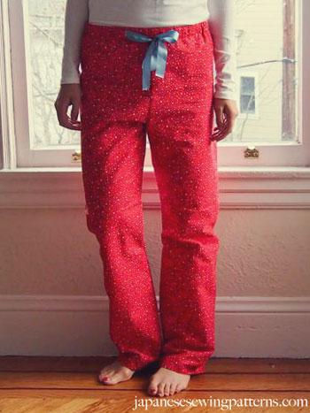http://www.japanesesewingpatterns.com/free-sewing-patterns/2014/01/10/free-japanese-sewing-pattern-in-english-pajama-pyjama-pants-women.html